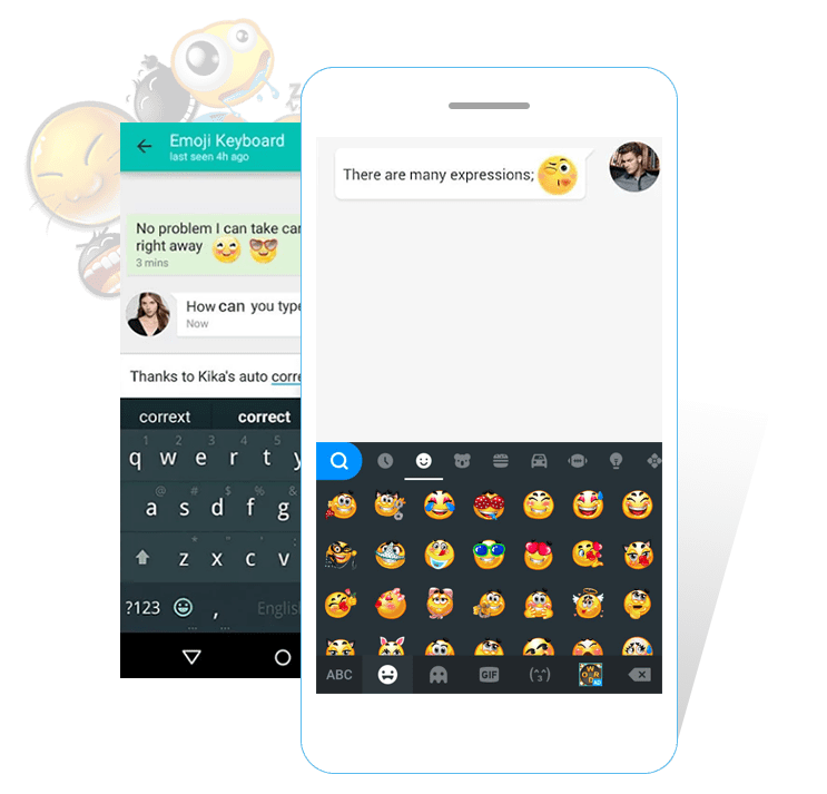 Kika Android Keyboard App Free Keyboard Themes Emoji Emoticon